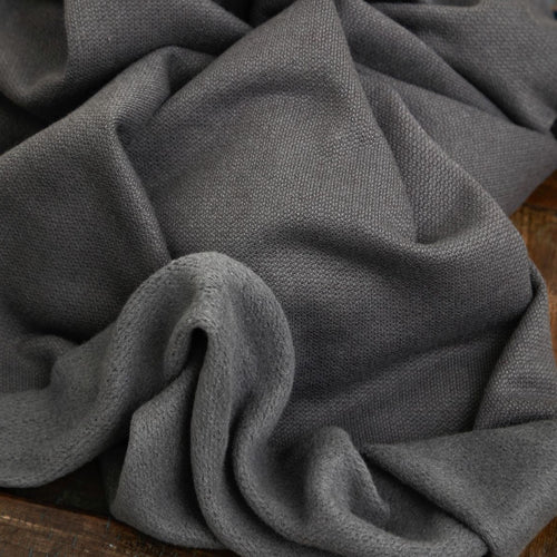 REMNANT 0.26 metre Mind The MAKER - Organic Cotton Cashmere Fleece Sweat Calm Grey