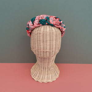 Adornments By Rosheen - Mind the Maker Botanic Bliss Teal Viscose Twill Plait Headband