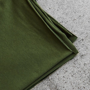 REMNANT 1.46 metres Green Khaki Organic Single Stretch Jersey