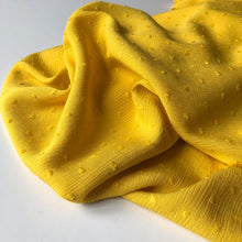 Crinkled Dotty Viscose Yellow