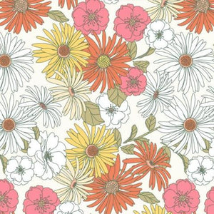 Aster Blooms Rayon / Viscose Dress Fabric