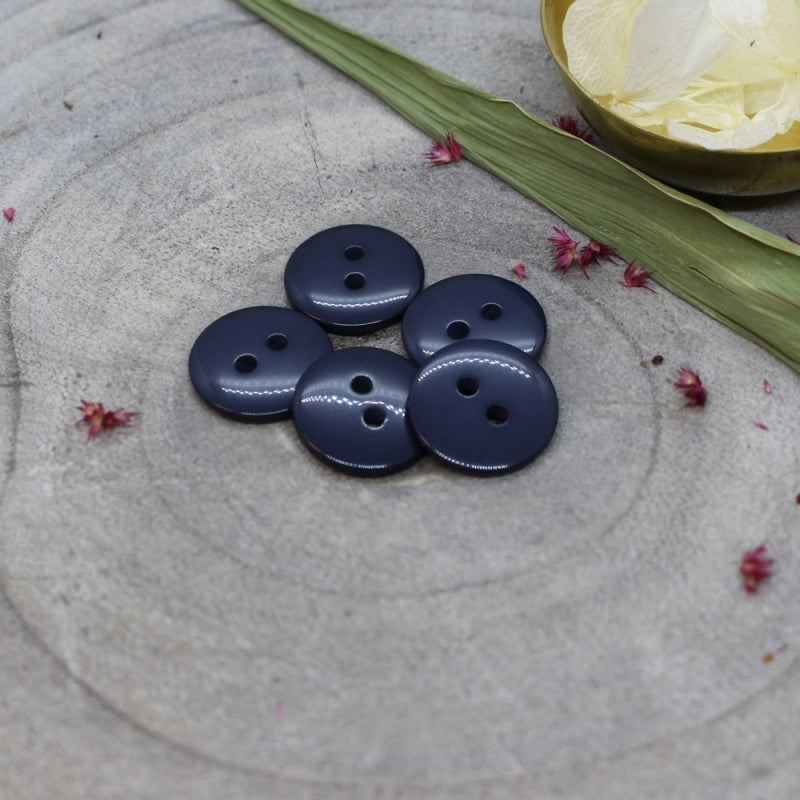 Atelier Brunette - Classic Shine Buttons - Midnight 15mm