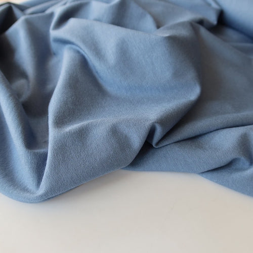 Inspire Blue Solid Viscose Jersey