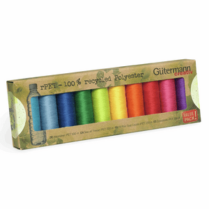 Gutermann Creativ 100% Recycled Thread Set 10 X 100M