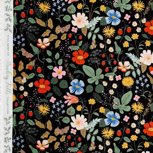 Rifle Paper Co - Strawberry Fields Black Rayon from Strawberry Fields
