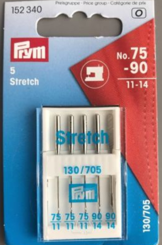 Prym Sewing Machine Needles  - Stretch 75-90  11-14