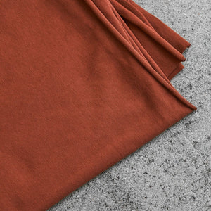 REMNANT 0.93 metre Sienna Organic Single Stretch Jersey