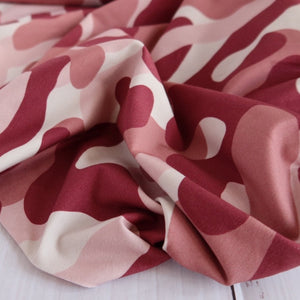 Danish Design - Camouflage Pink Cotton Jersey Fabric