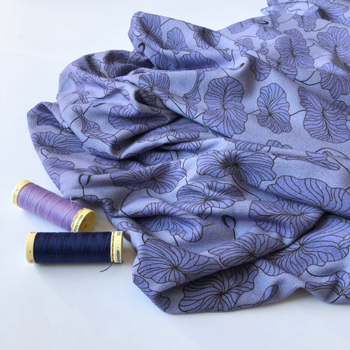 Danish Design - Morning Glory Lilac Viscose Jersey