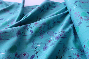 Danish Design - Summer Field Blue Cotton Jersey Fabric