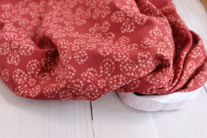 REMNANT 1.94 meters Danish Design - Floral Petals Organic Cotton Jersey Fabric