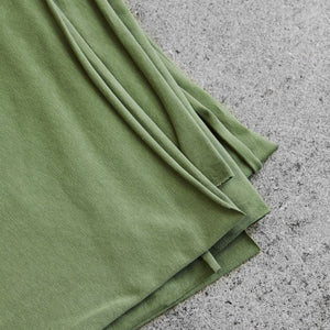 Olive Green Organic Single Stretch Jersey