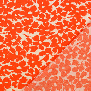 Summer Field Red Viscose Poplin Fabric