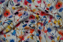 REMNANT 0.63 meter Watercolours Cotton Lawn Dress Fabric