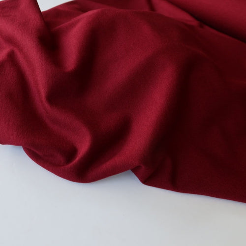 Inspire Burgundy Solid Viscose Jersey