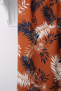 Atelier Jupe - Chestnut Woven Viscose with Big Leaves