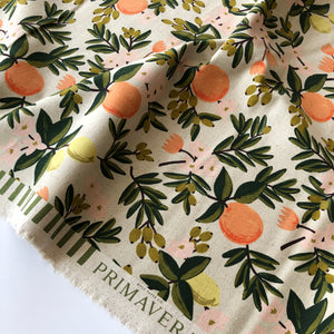 Rifle Paper Co - Citrus Floral Sand Canvas from Primavera