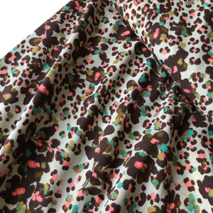 Fields of Viola Sand Morocain Stretch Dress Fabric