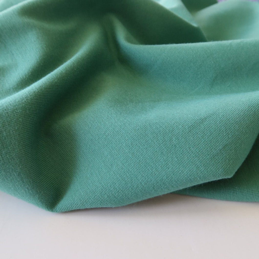 Essential Chic Green Turquoise Cotton Jersey Fabric