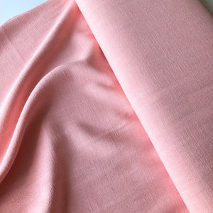 Flow Sweet Peach Viscose Linen Blend Dress Fabric