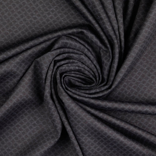 Rhombus Viscose Ponte Roma Double Knit Fabric