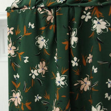 Atelier Jupe - Forest Green Woven Viscose with Soft Pink Flowers