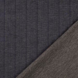 REMNANT 2.28 meters Herringbone Viscose Ponte Roma Double Knit Fabric