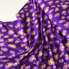 Purple Leopard Viscose Jersey