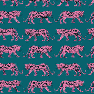 Jungle Night Leopards Cotton Fabric