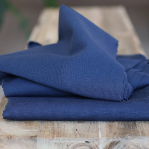 Meet MILK - Solid Ponte Knit in Blueberry with TENCEL™ fibres