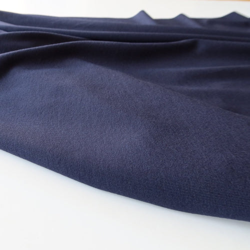 Inspire Navy Solid Viscose Jersey Fabric