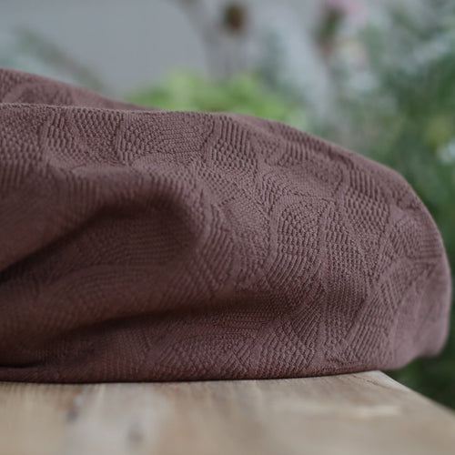 REMNANT 0.52 meter Mind The MAKER - Organic Leaf Jacquard Dust Brown