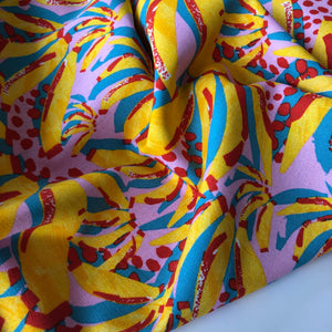 Tropical Holidays Linen Viscose Dressmaking Fabric