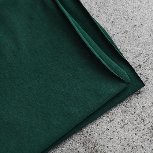 Bottle Green Organic Single Stretch Jersey