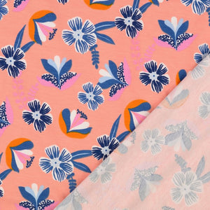 Springflower Peach Organic Cotton Jersey