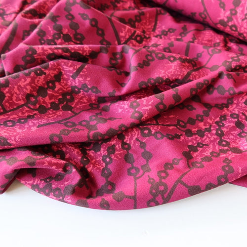 Danish Design - Lawn Burgundy Viscose Jersey Fabric