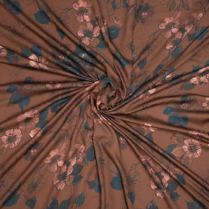 Pecan Alice Woven Viscose Fabric