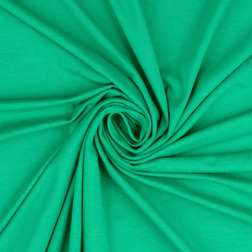 Inspire Emerald Green Solid Viscose Jersey Fabric