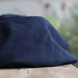 Mind The MAKER - Organic Leaf Jacquard Indigo Night