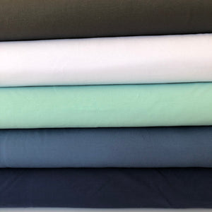 Essential Chic White Plain Cotton Jersey Fabric