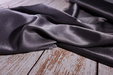 Elegance Silk Grey Viscose Satin Fabric