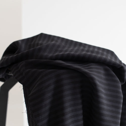 Meet MILK - Two Tone Stripe Twill Black with TENCEL™ Lyocell fibers