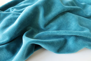 Danish Design - Petrol Blue Velour / Velvet Fabric