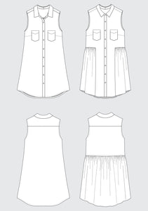 Grainline Studio Alder Shirtdress Sewing Pattern