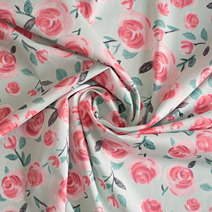 Lisa Comfort fabric- All the Roses - Mint