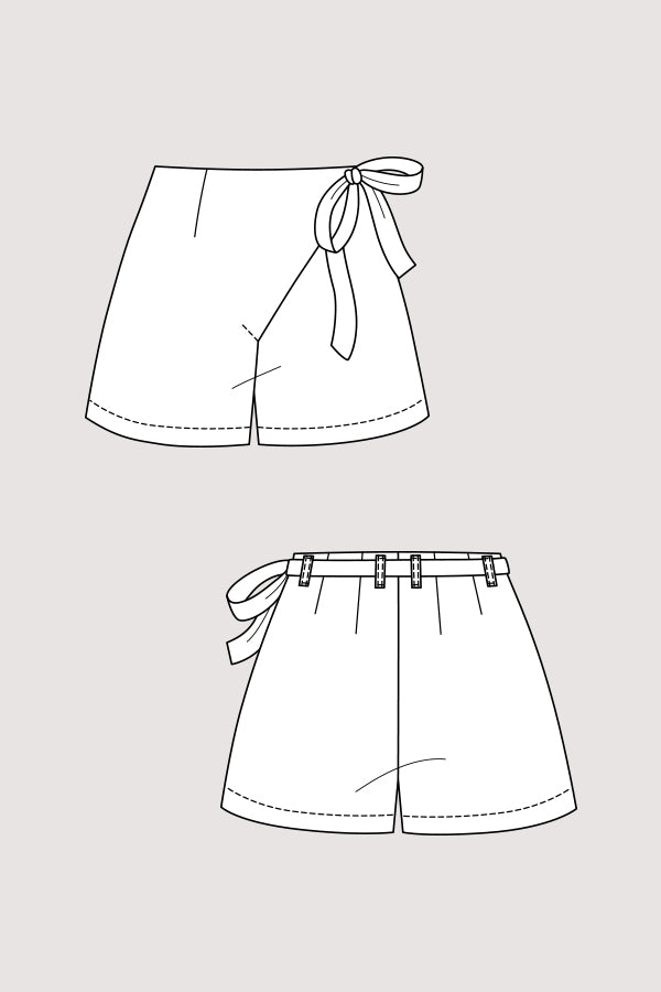 Named Clothing - ASTRID Wrap Shorts 2in1 Sewing Pattern – Lamazi ...
