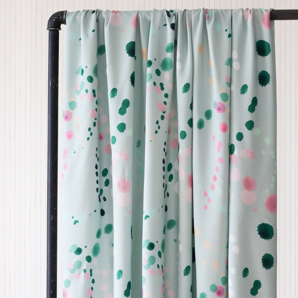 Mind The MAKER - SPLASH Mint ECOVERO™ Viscose Twill