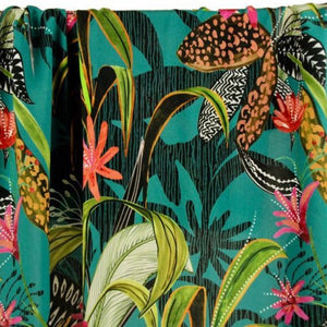 Atelier Jupe - Turqouise Viscose with Tropical Print