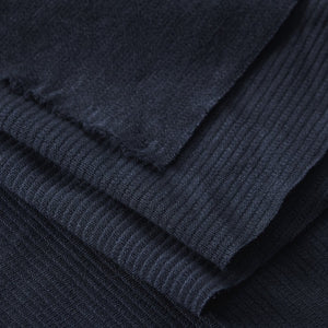 Mind The MAKER - Organic Woolen Ottoman Knit Indigo Night