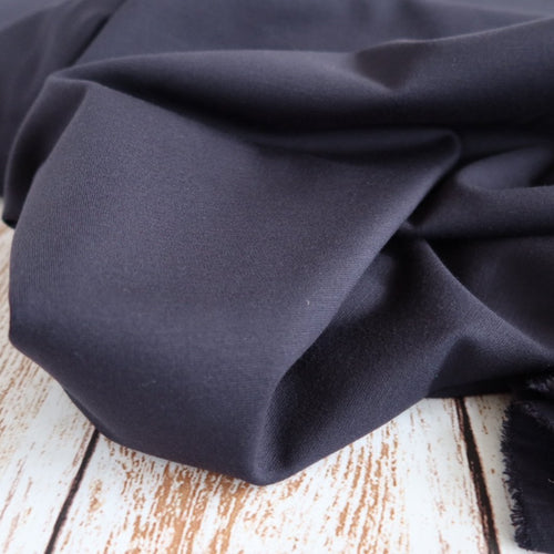 Navy Viscose Ponte Roma Double Knit Fabric